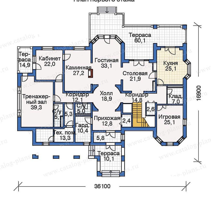 План 1-этажа проекта 33-64