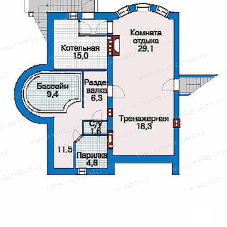 План 1-этажа проекта 33-44
