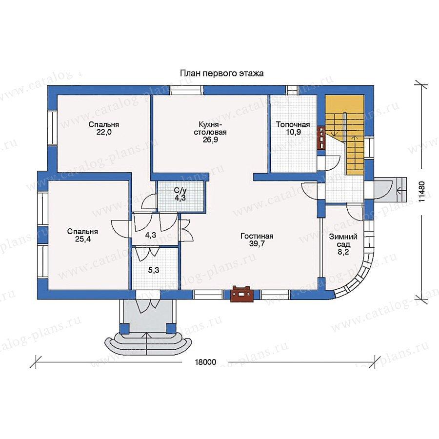 План 1-этажа проекта 33-16