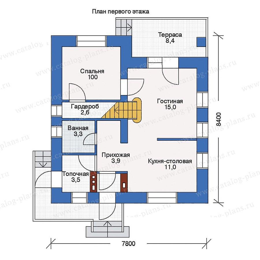 План 1-этажа проекта 33-09
