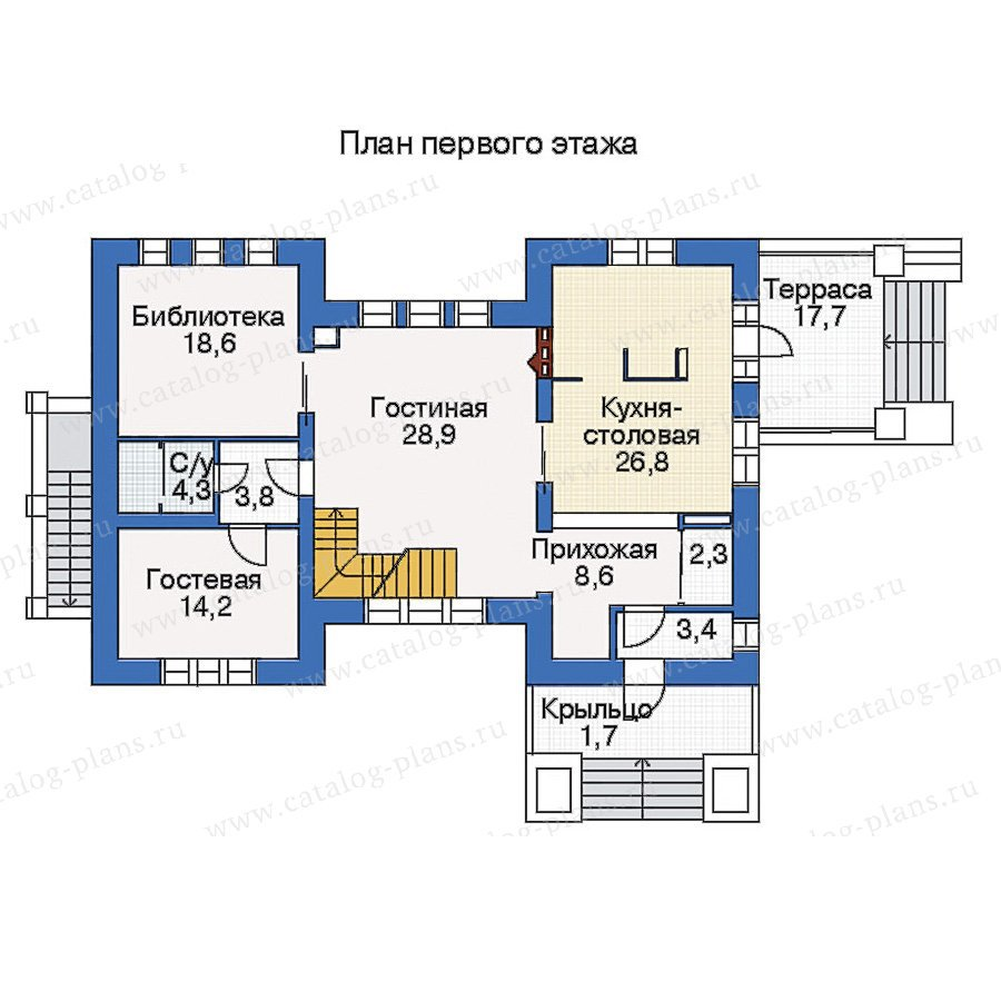 План 2-этажа проекта 33-68