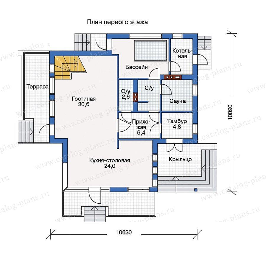 План 1-этажа проекта 33-05