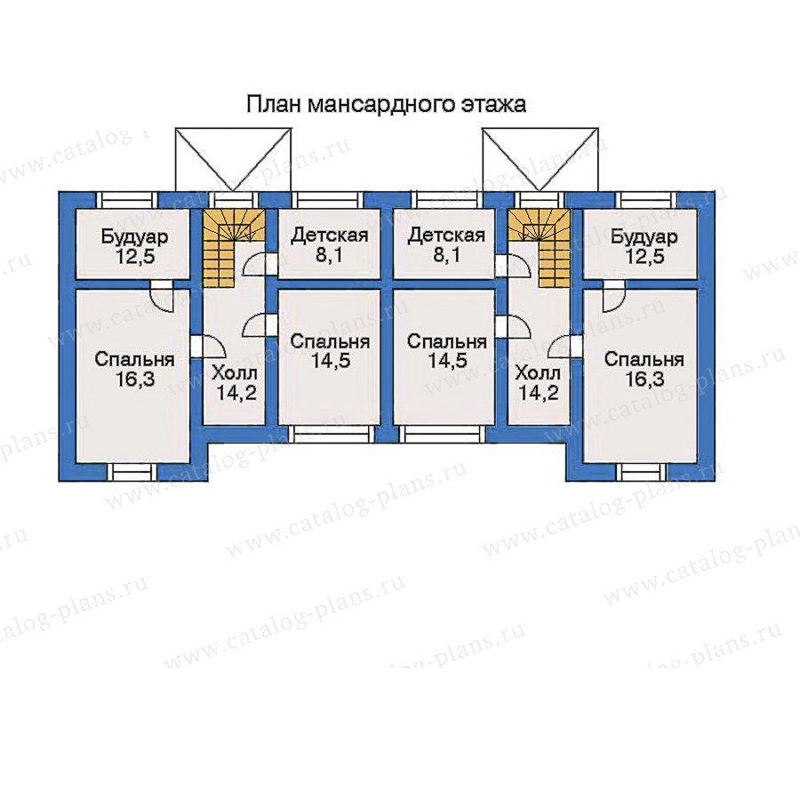 План 3-этажа проекта 33-84
