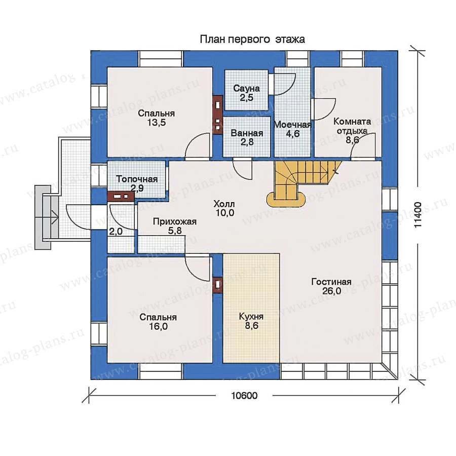 План 1-этажа проекта 33-04
