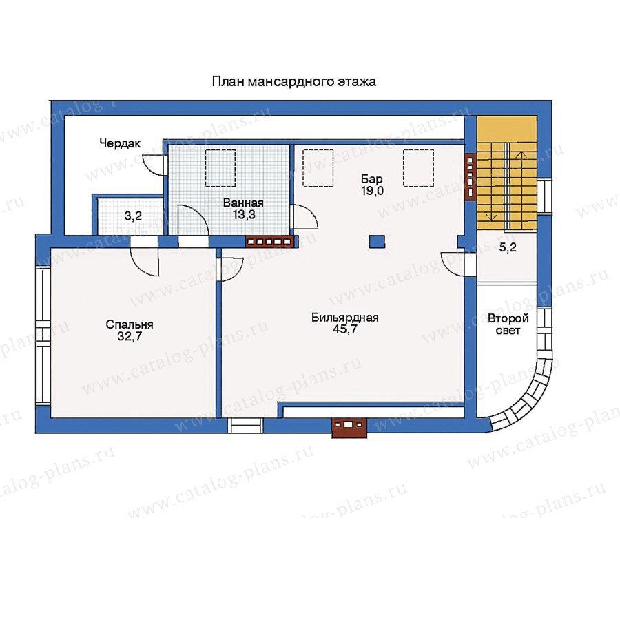 План 2-этажа проекта 33-16