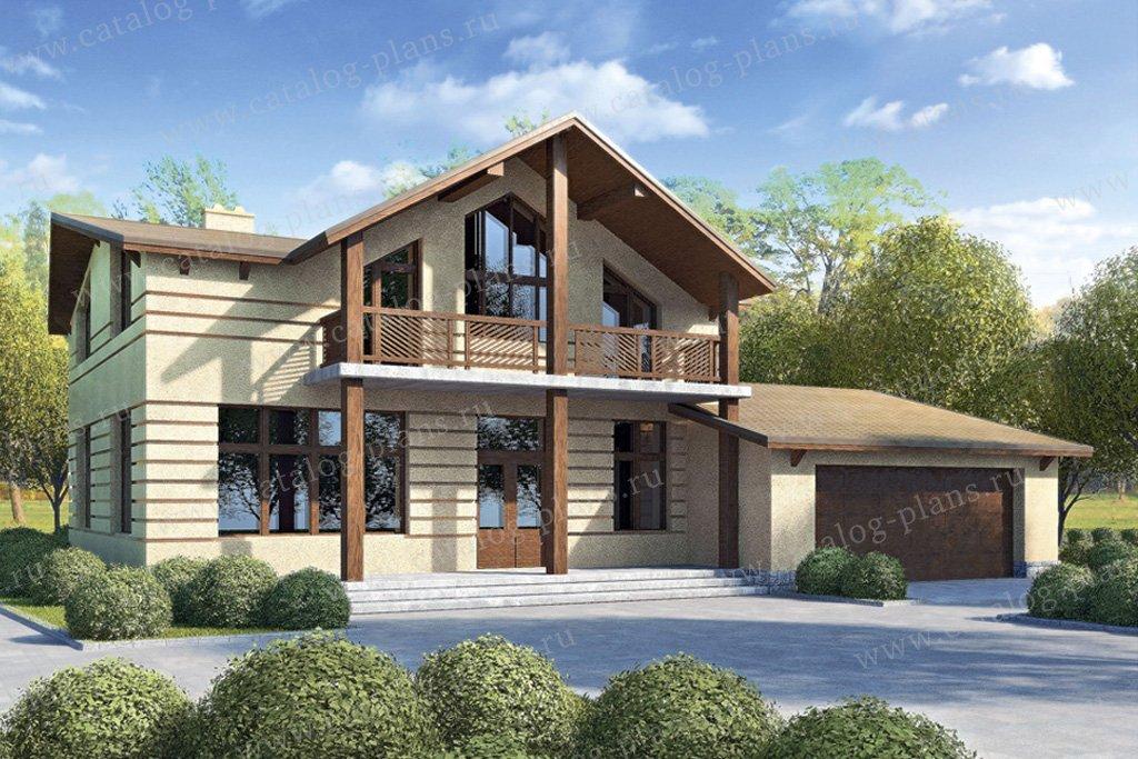 Проект жилой дом #33-77 материал - кирпич, стиль скандинавский