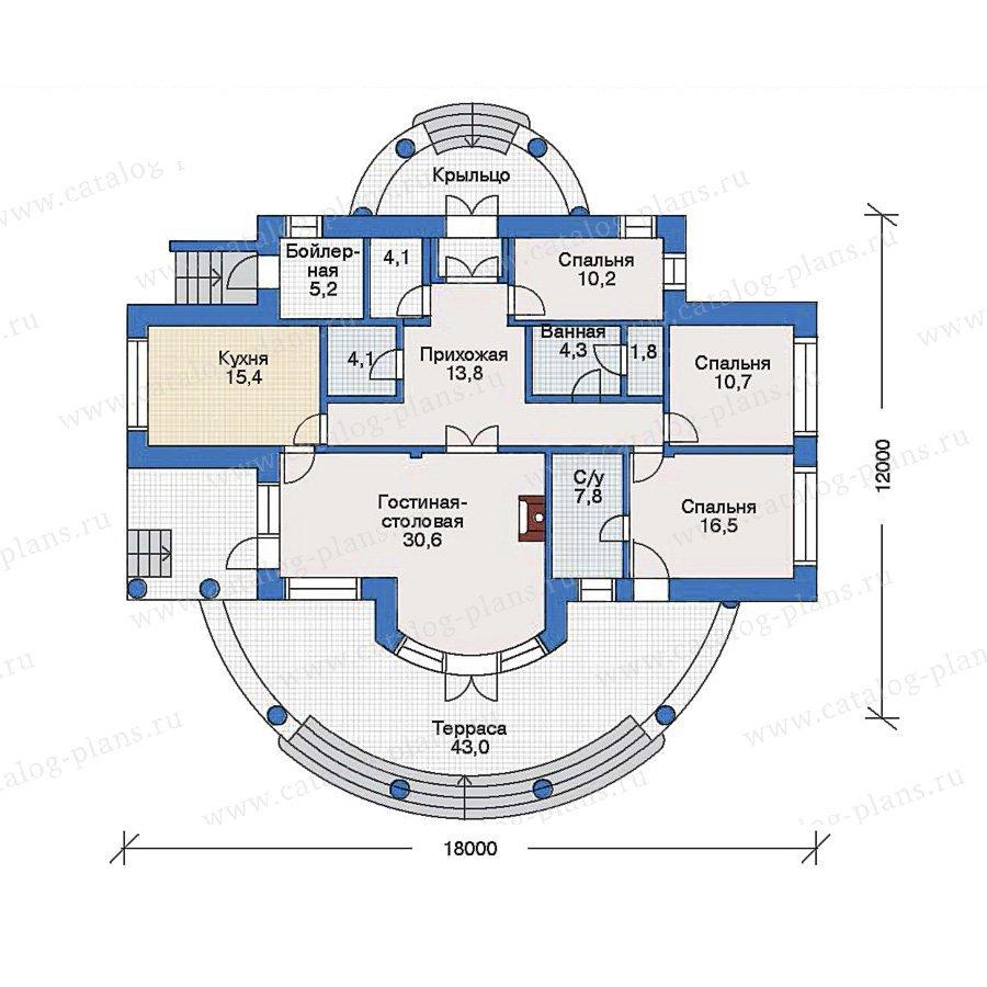 План 1-этажа проекта 33-21