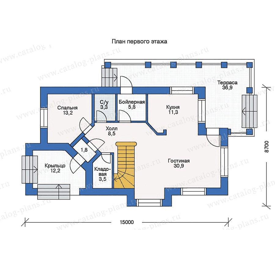 План 1-этажа проекта 33-22