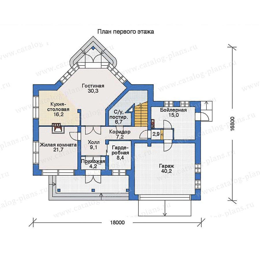 План 1-этажа проекта 33-77