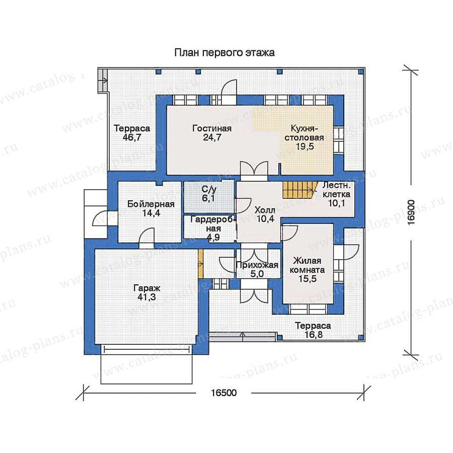 План 1-этажа проекта 33-78