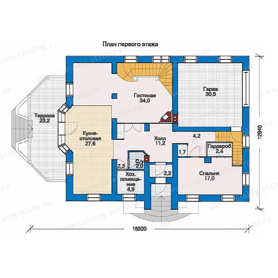 План 1-этажа проекта 33-19