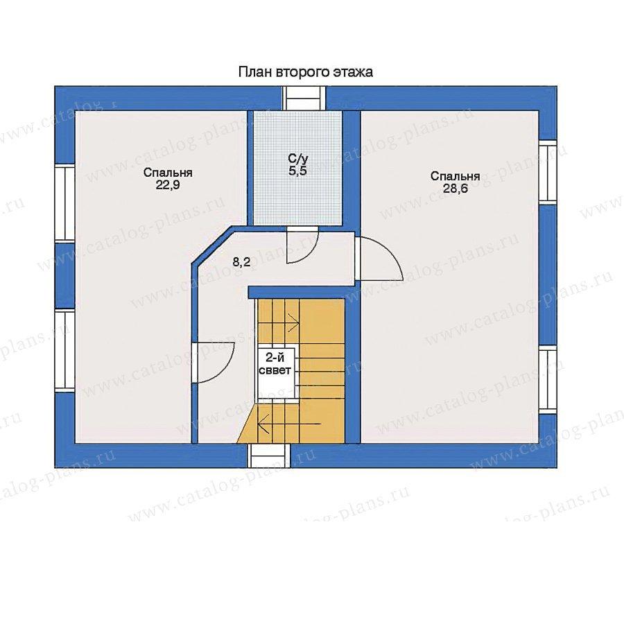 План 2-этажа проекта 33-17