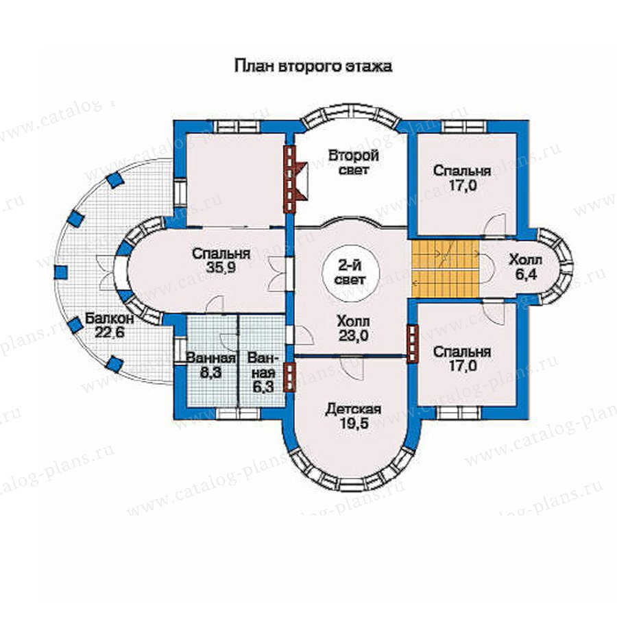 План 3-этажа проекта 33-44