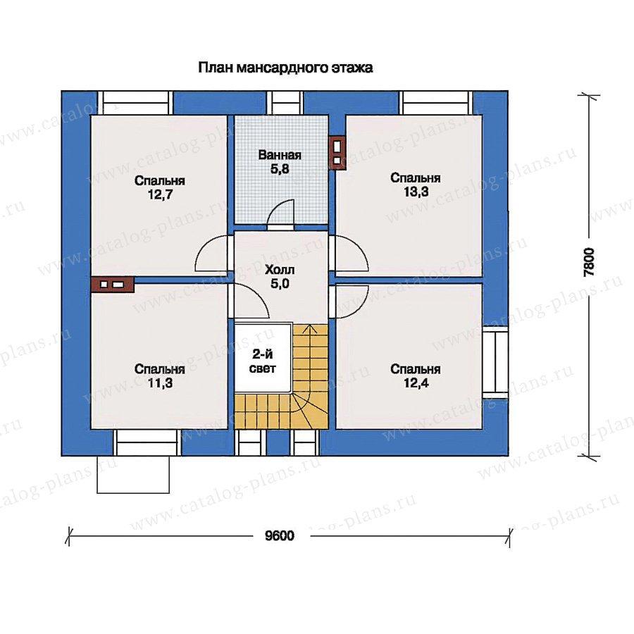 План 2-этажа проекта 33-40