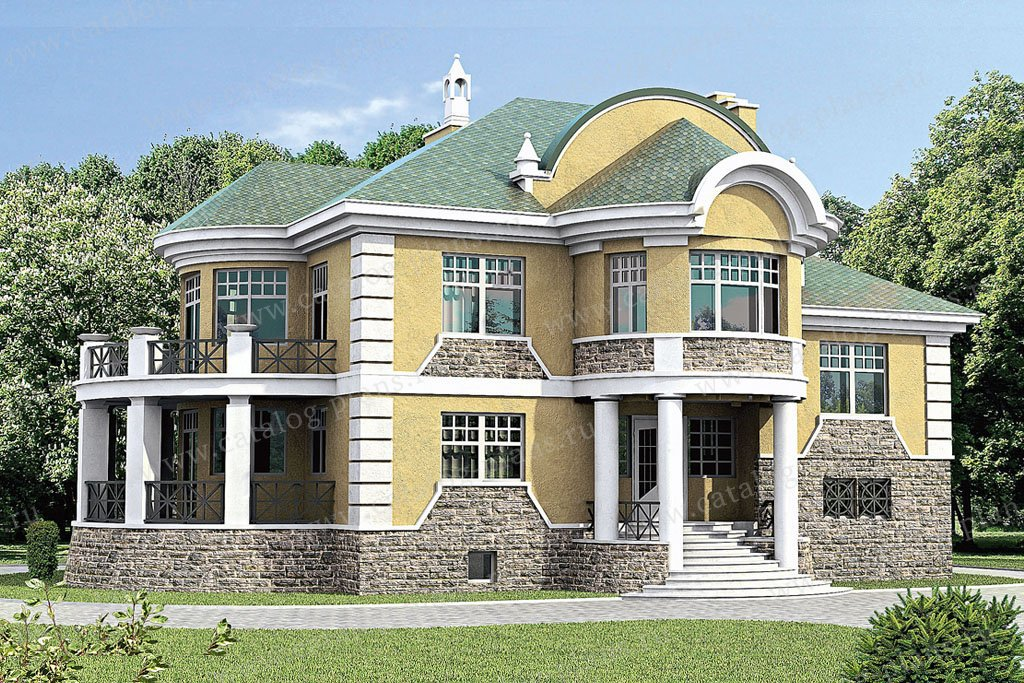 Проект жилой дом #33-44 материал - кирпич, стиль классический