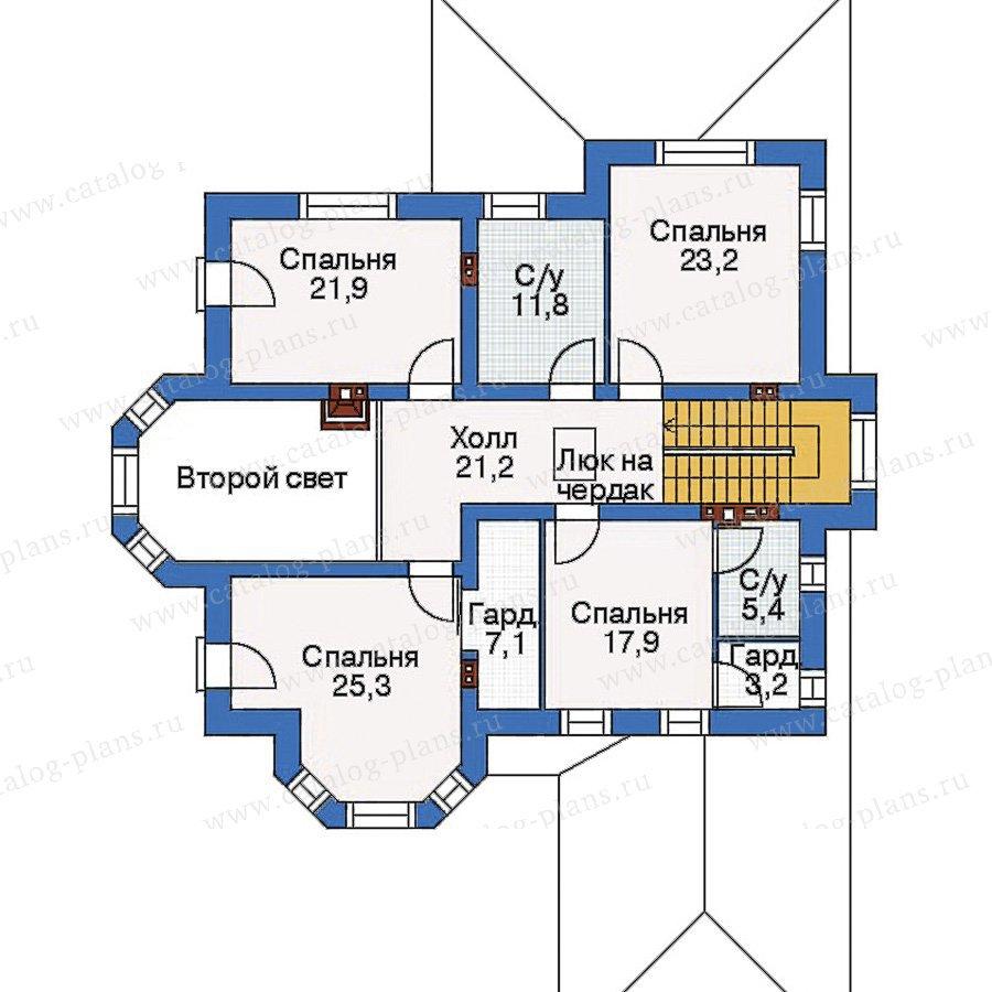План 2-этажа проекта 33-88