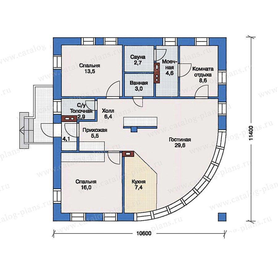 План 1-этажа проекта 33-39