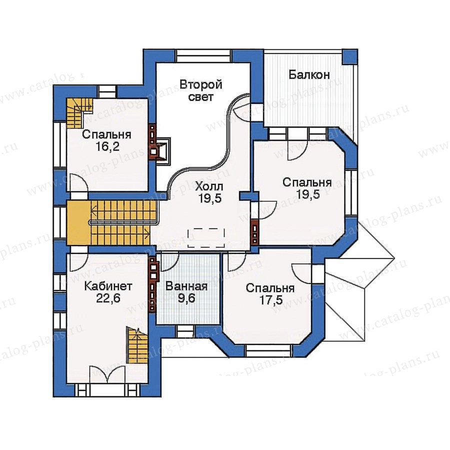 План 3-этажа проекта 33-42