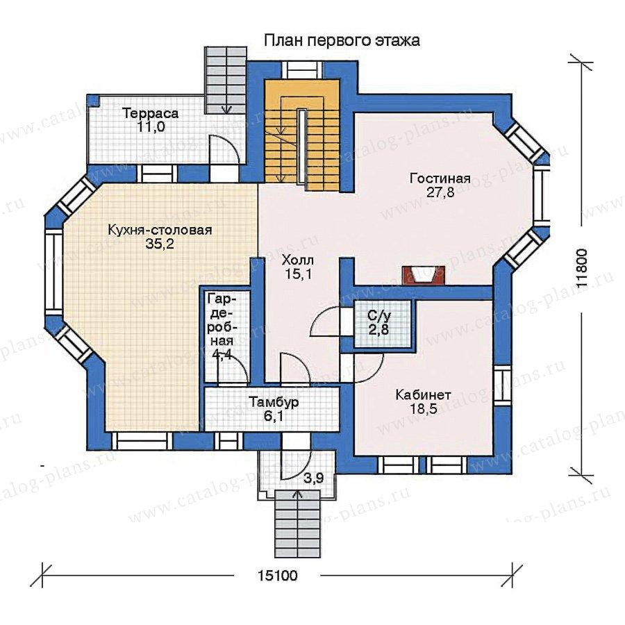 План 2-этажа проекта 33-91
