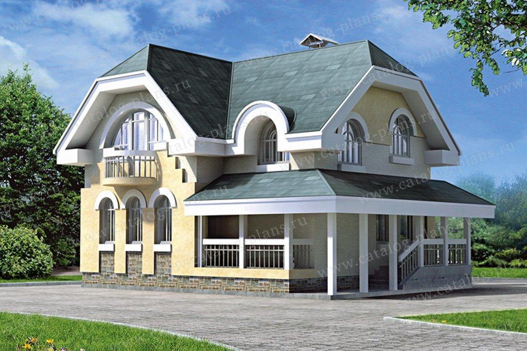 Проект жилой дом #33-56 материал - кирпич, стиль модерн
