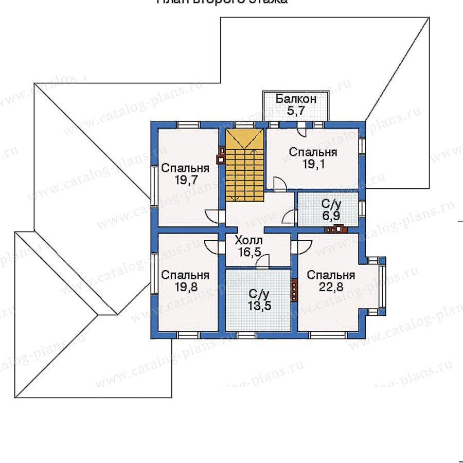 План 2-этажа проекта 33-45