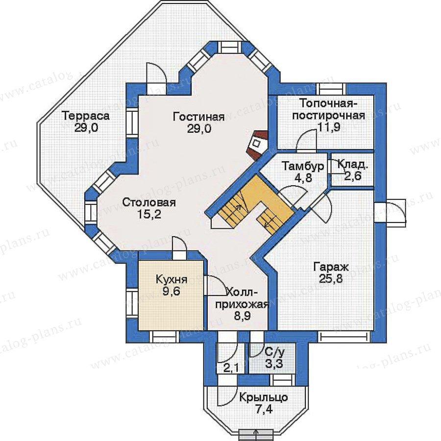План 1-этажа проекта 33-87