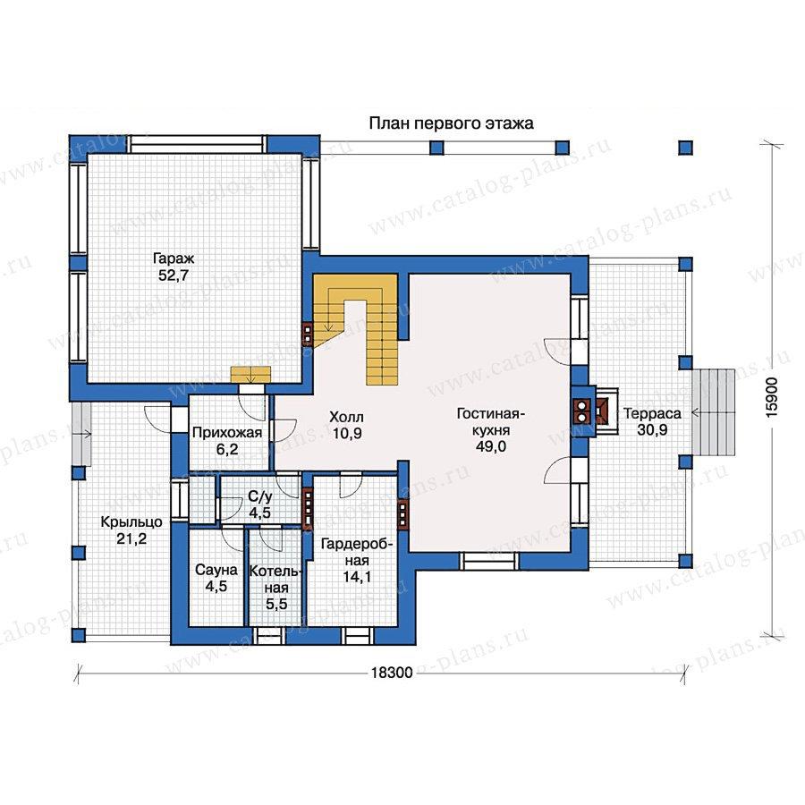 План 1-этажа проекта 33-63