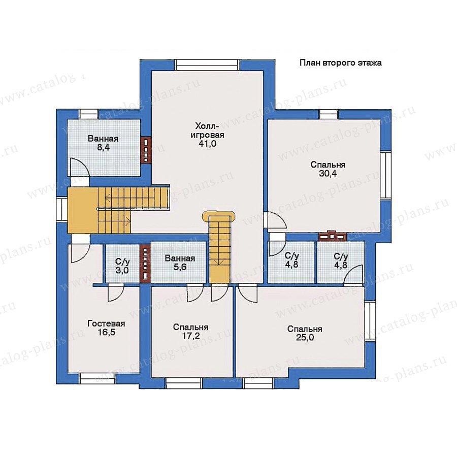 План 2-этажа проекта 33-25