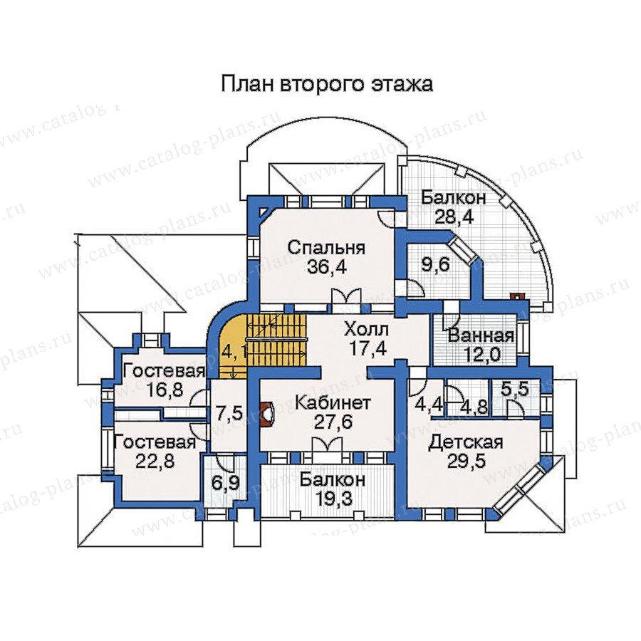План 3-этажа проекта 33-76
