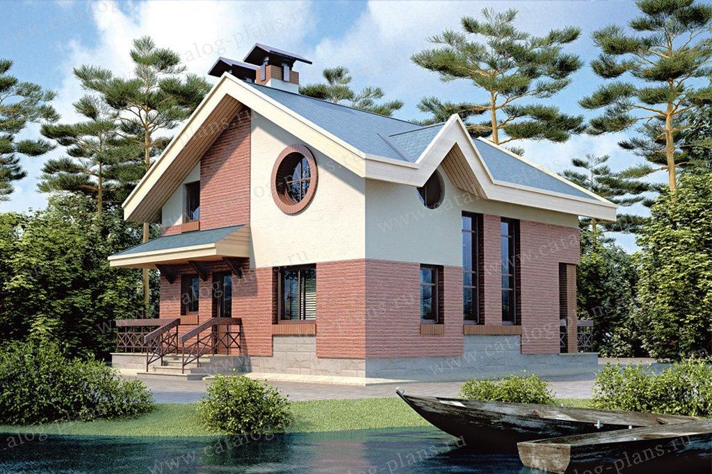 Проект жилой дом #33-09 материал - кирпич, стиль современный