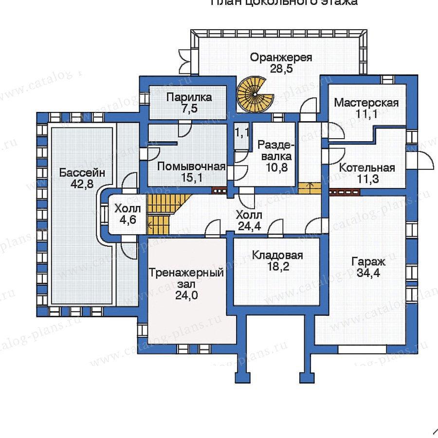 План 1-этажа проекта 33-34
