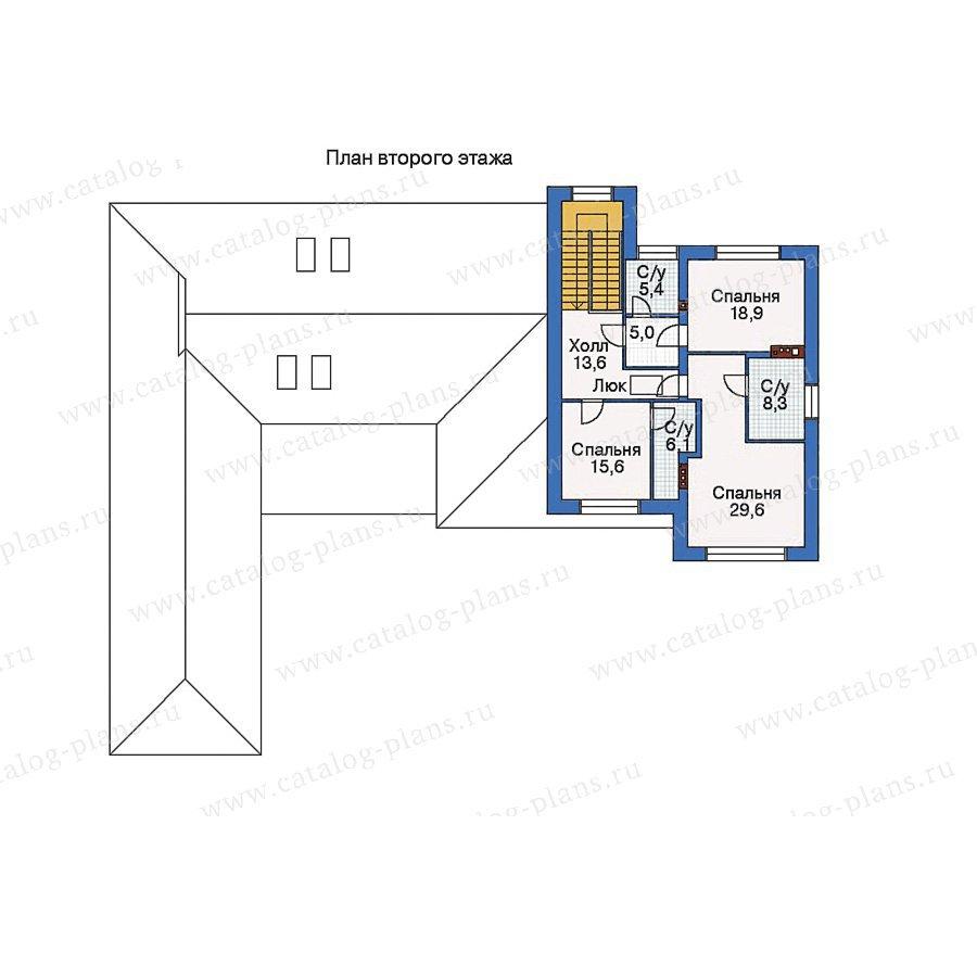 План 2-этажа проекта 33-33