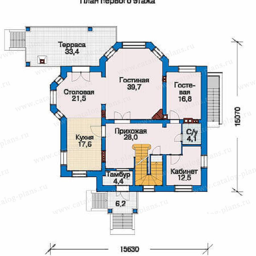 План 2-этажа проекта 33-52