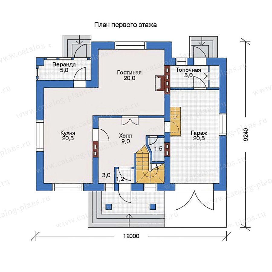 План 1-этажа проекта 33-02