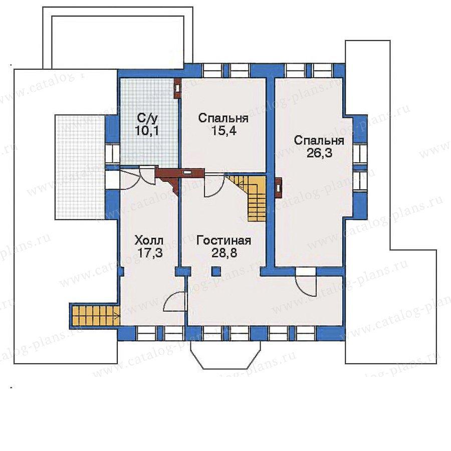 План 2-этажа проекта 33-51