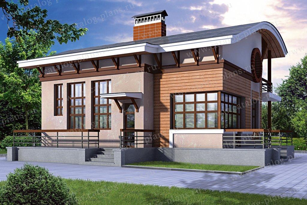 Проект жилой дом #33-05 материал - кирпич, стиль современный