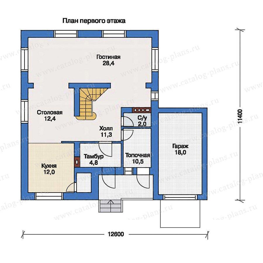 План 1-этажа проекта 33-38