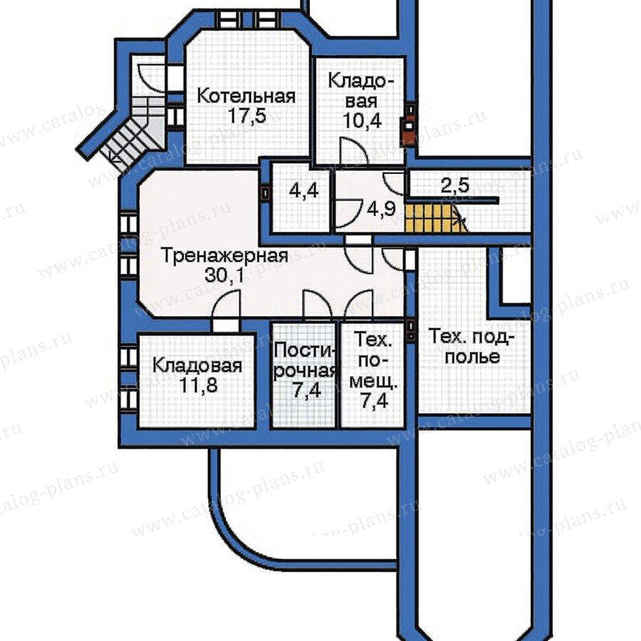 План 1-этажа проекта 33-43