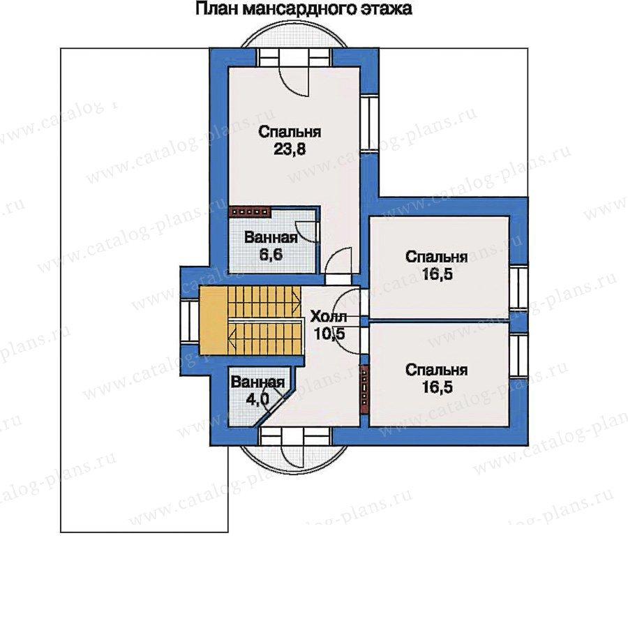 План 2-этажа проекта 33-55
