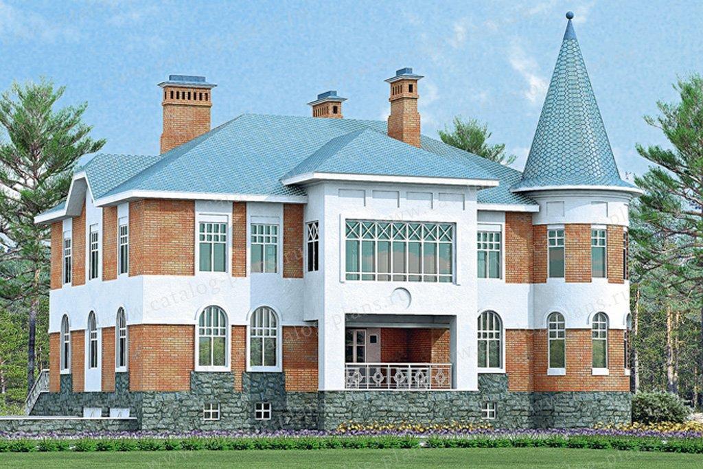 Проект жилой дом #33-35 материал - кирпич, стиль средневековый