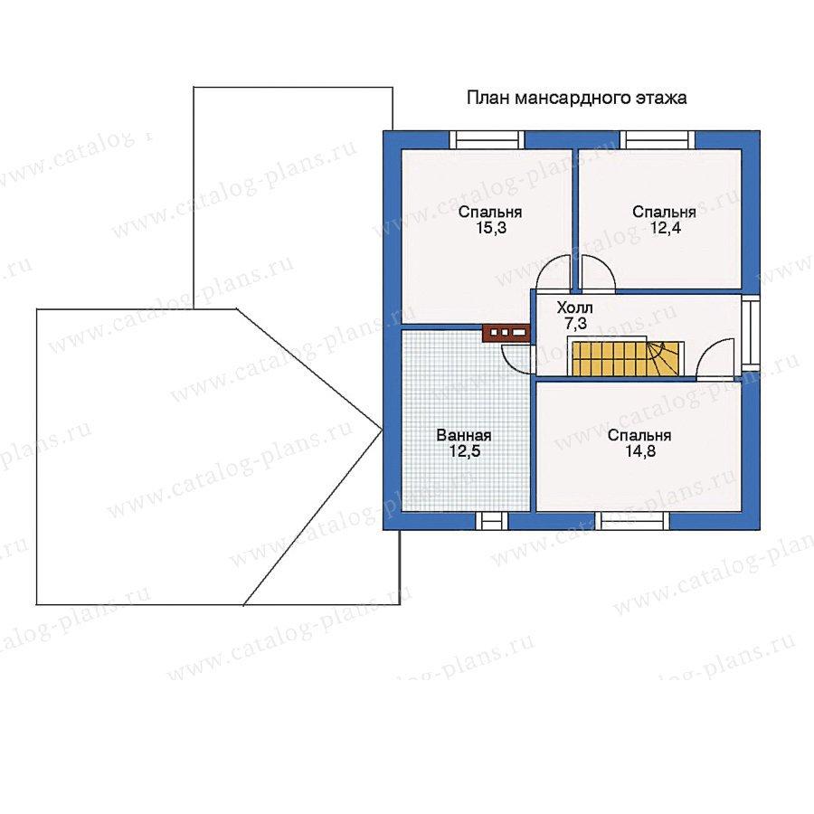 План 2-этажа проекта 33-73