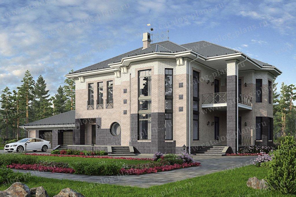 Проект жилой дом #33-57 материал - кирпич, стиль европейский