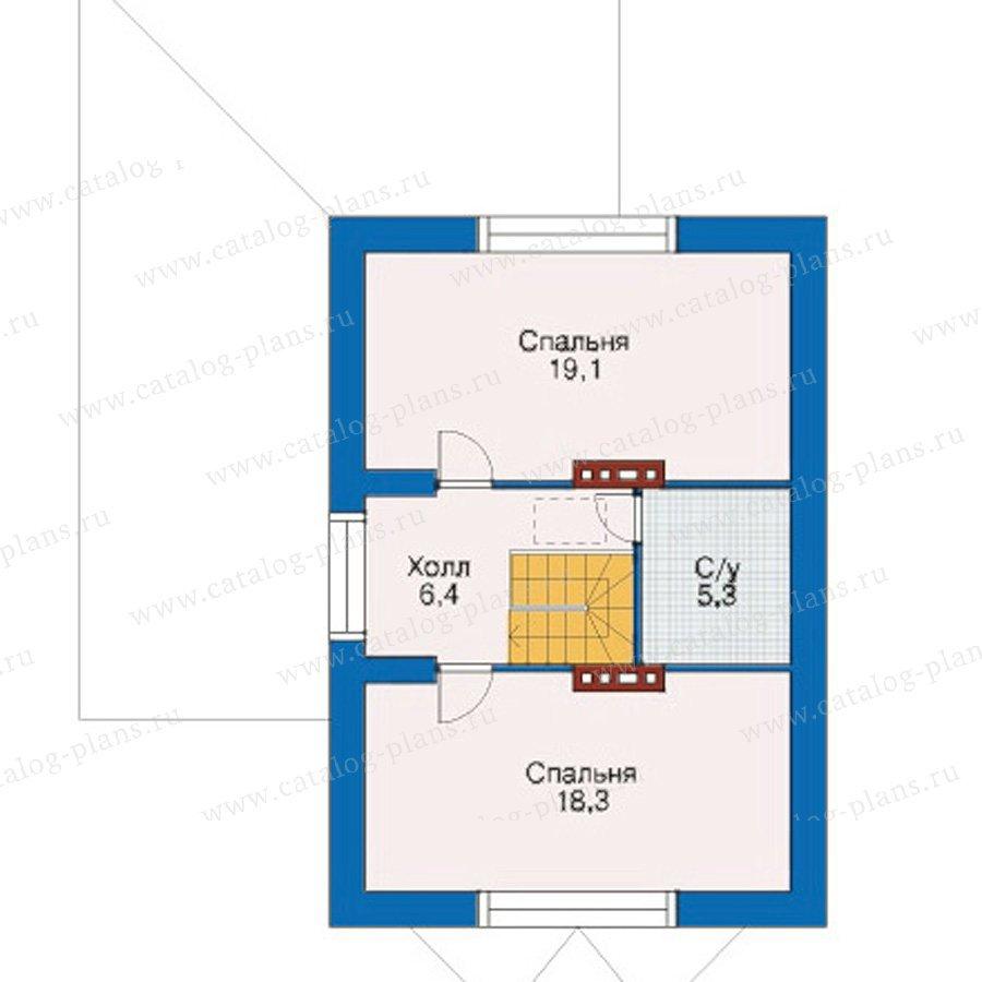 План 3-этажа проекта 33-98