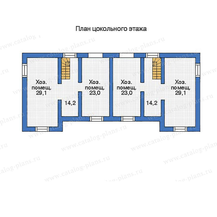 План 1-этажа проекта 33-84