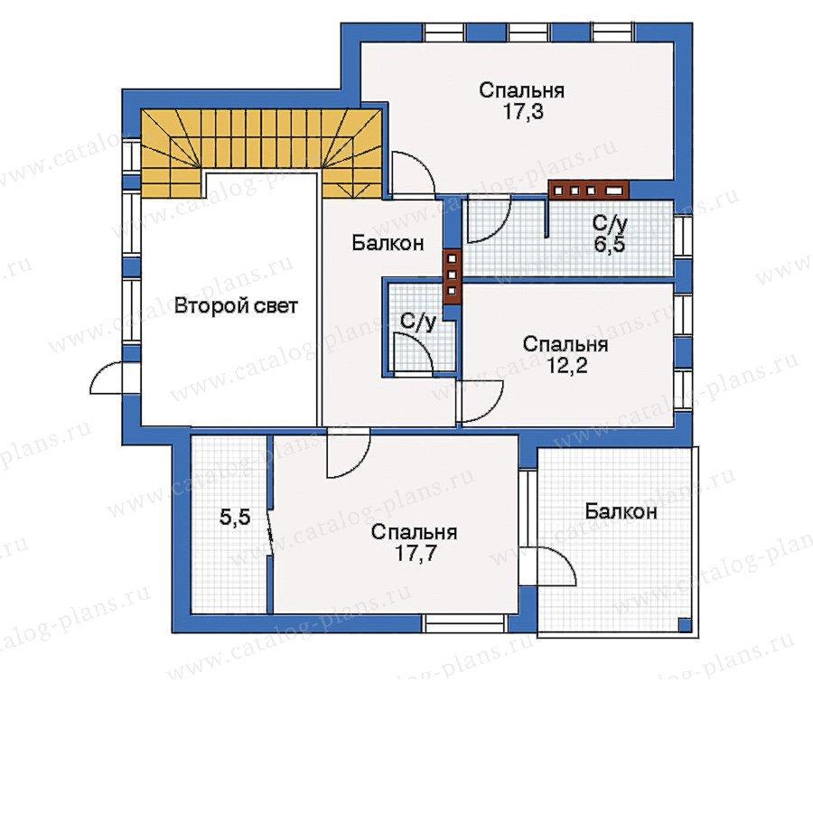 План 2-этажа проекта 33-05