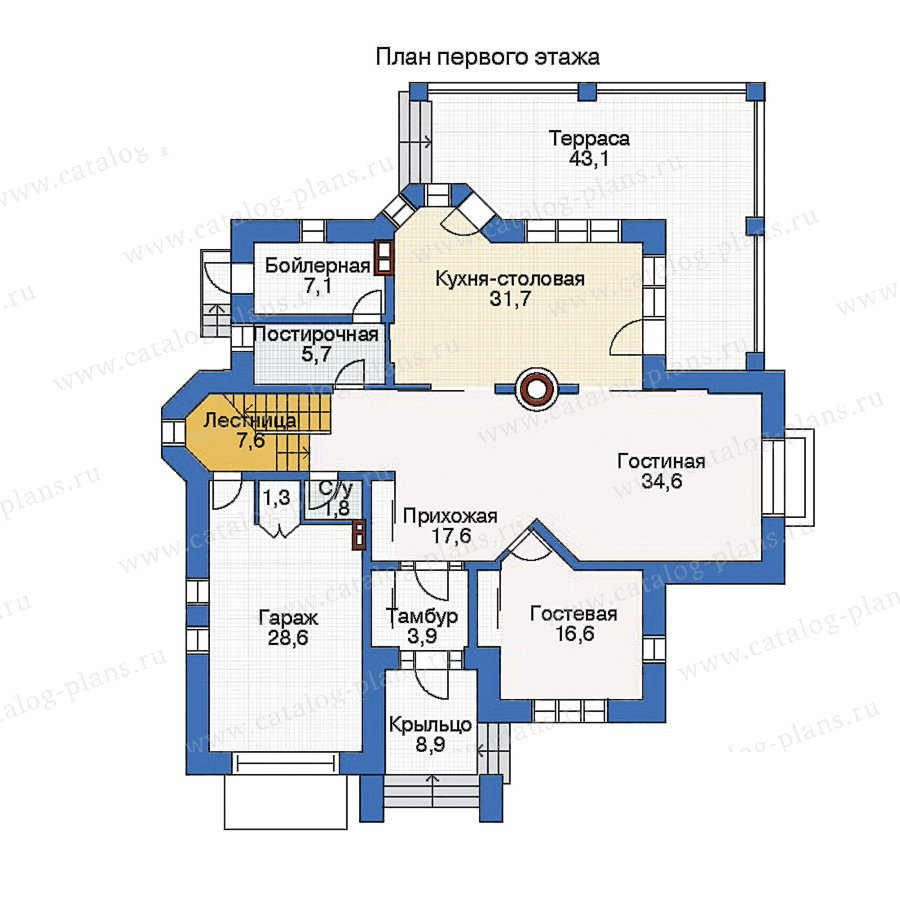 План 1-этажа проекта 33-67