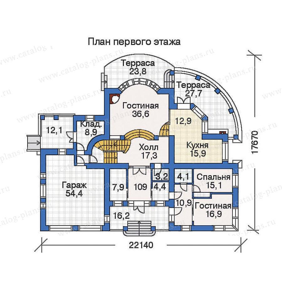 План 2-этажа проекта 33-76