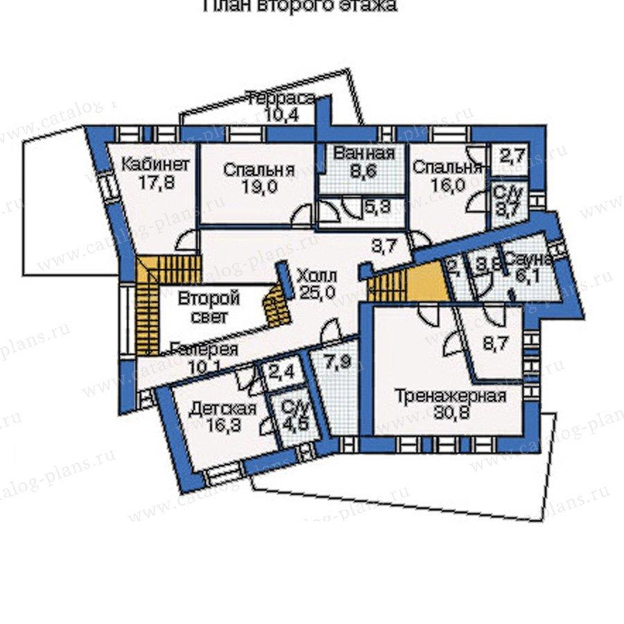 План 2-этажа проекта 33-92