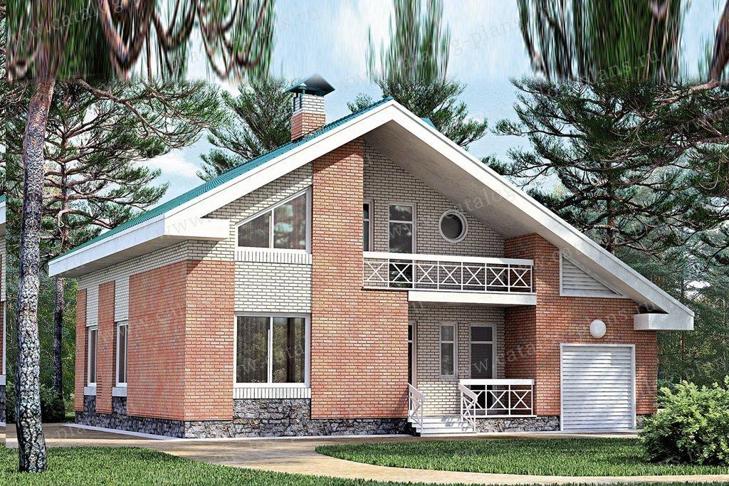 Проект жилой дом #33-38 материал - кирпич, стиль скандинавский