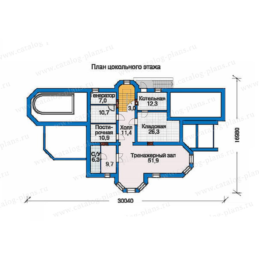 План 1-этажа проекта 33-50